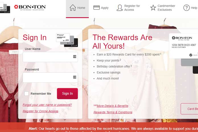 bonton credit card