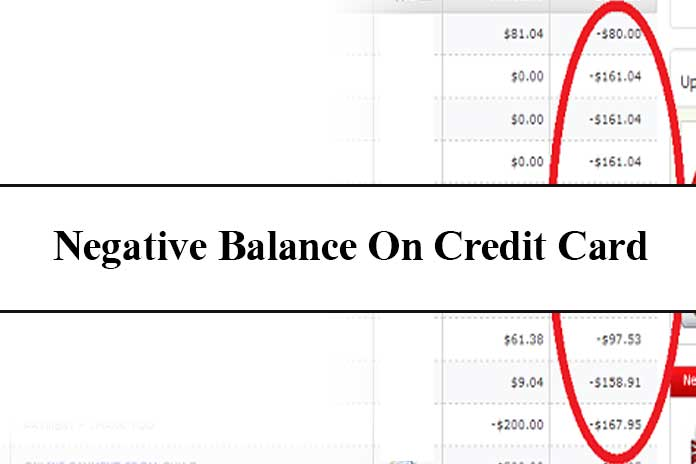 negative balance on credit card